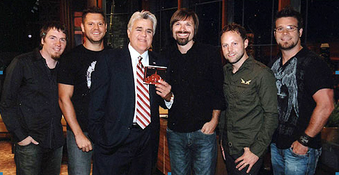 Mark, Tai, Jay Leno, Mac, David, and Scotty