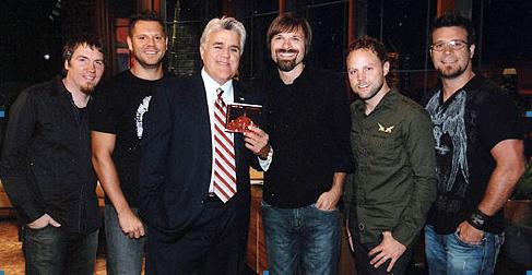 Mark, Tai, Jay Leno, Mac, David, and Scotty