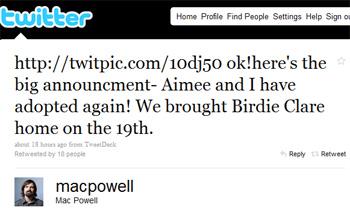 Mac News tweet
