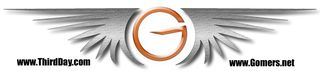 Chrome and glass Gomer wings logo